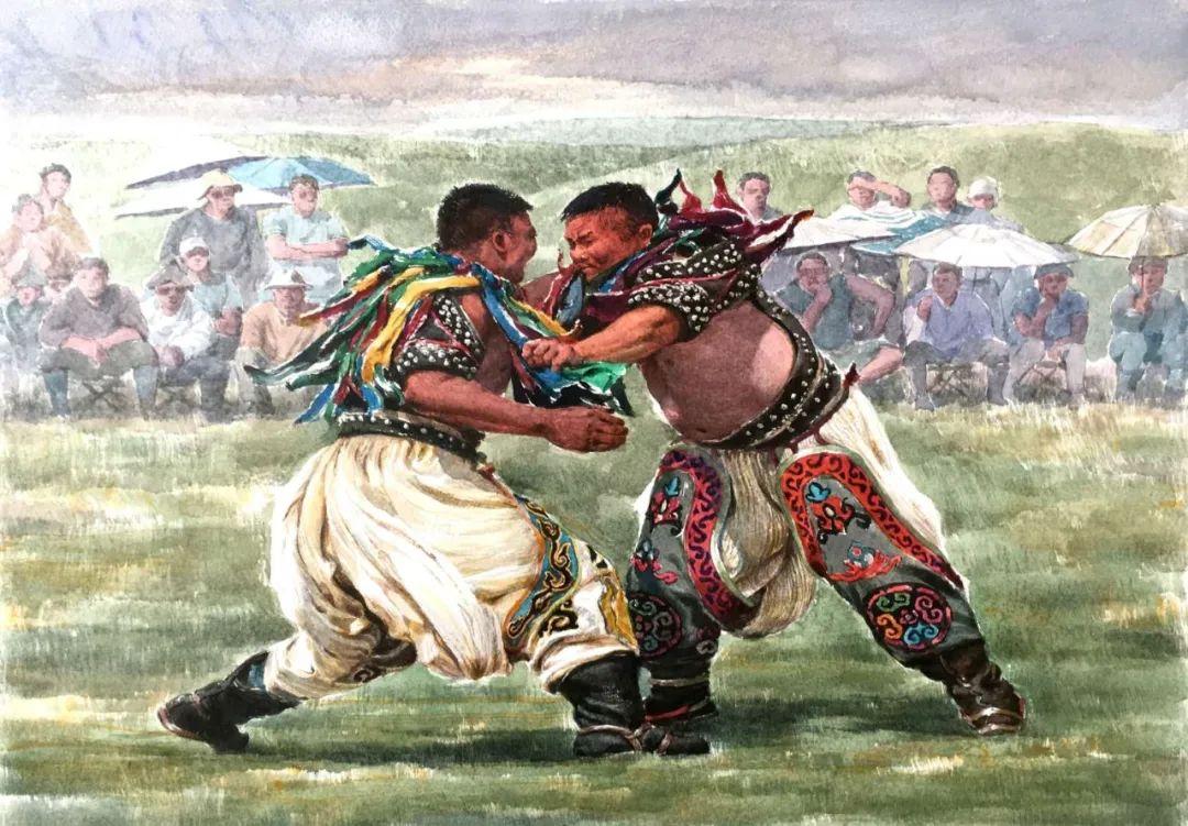 蒙古族搏克手连环画作品 第4张 蒙古族搏克手连环画作品 蒙古画廊