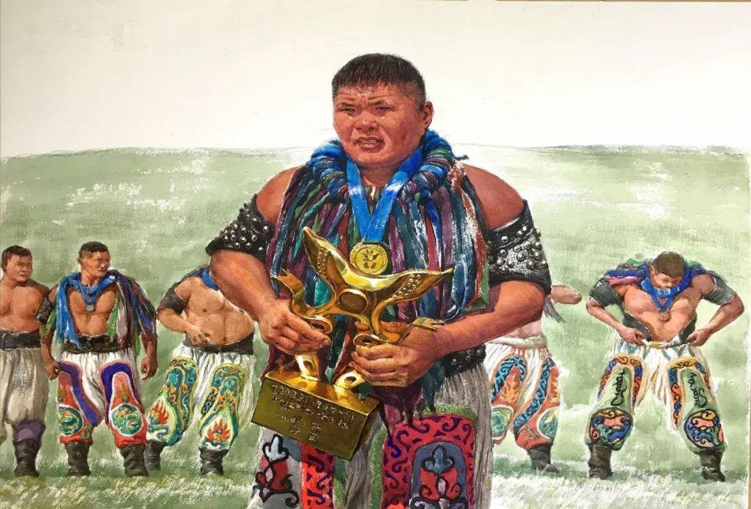 蒙古族搏克手连环画作品 第7张