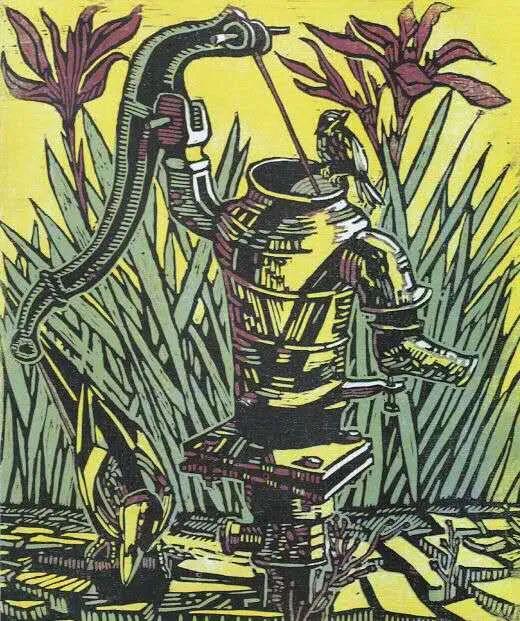 扎力根版画作品欣赏 第7张 扎力根版画作品欣赏 蒙古画廊