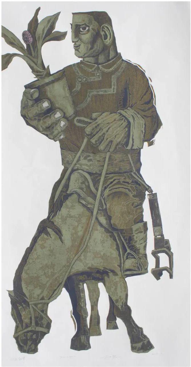 扎力根版画作品欣赏 第6张 扎力根版画作品欣赏 蒙古画廊