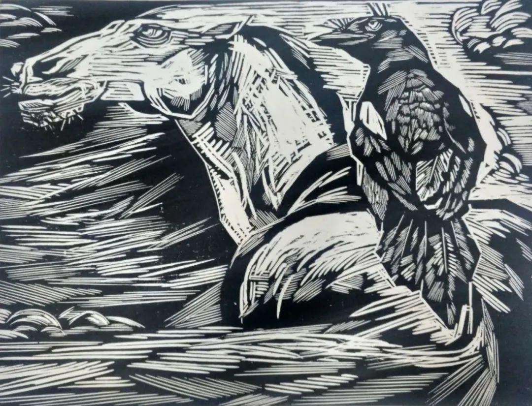 扎力根版画作品欣赏 第13张 扎力根版画作品欣赏 蒙古画廊