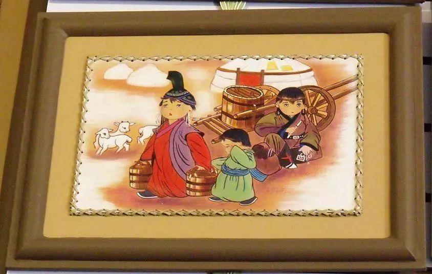 内蒙古民俗文化——内蒙古牛皮画 第2张