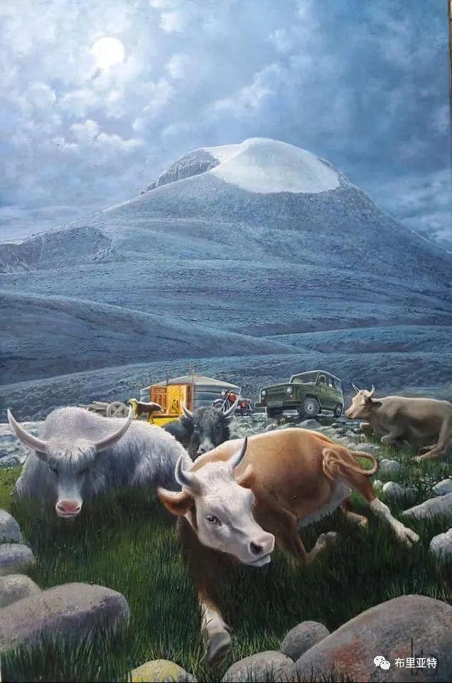 蒙古国油画,彩笔画大师巴雅尔作品欣赏 第4张