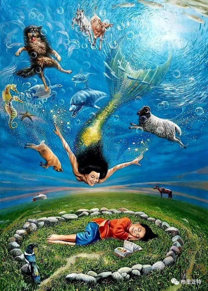 蒙古国油画,彩笔画大师巴雅尔作品欣赏 第3张