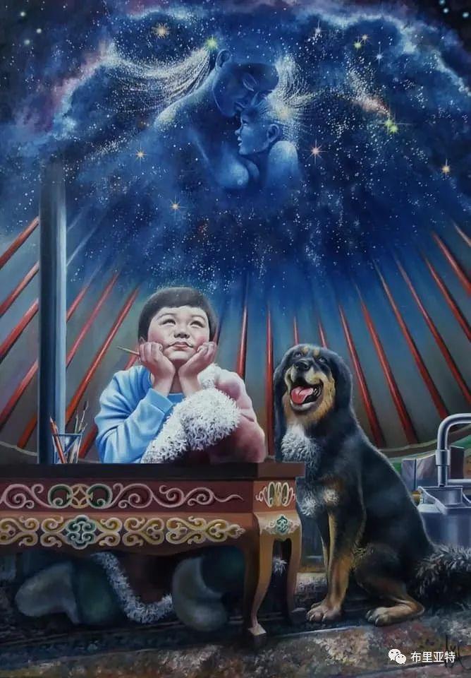 蒙古国油画,彩笔画大师巴雅尔作品欣赏 第2张