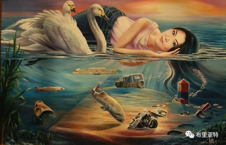 蒙古国油画,彩笔画大师巴雅尔作品欣赏 第7张