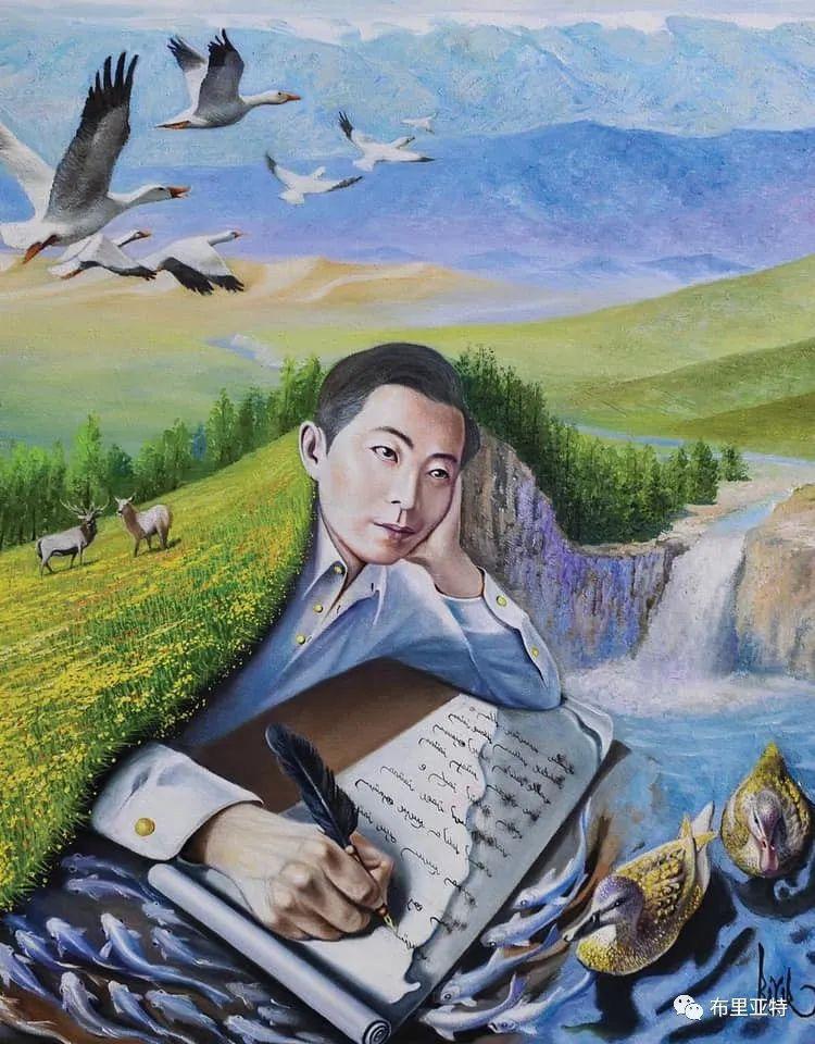 蒙古国油画,彩笔画大师巴雅尔作品欣赏 第10张