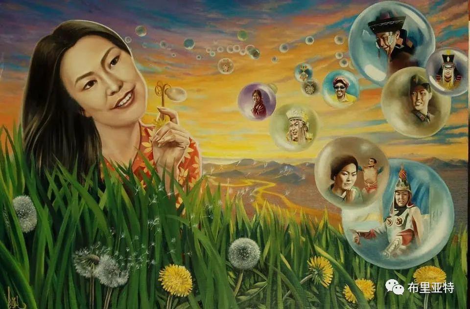 蒙古国油画,彩笔画大师巴雅尔作品欣赏 第13张