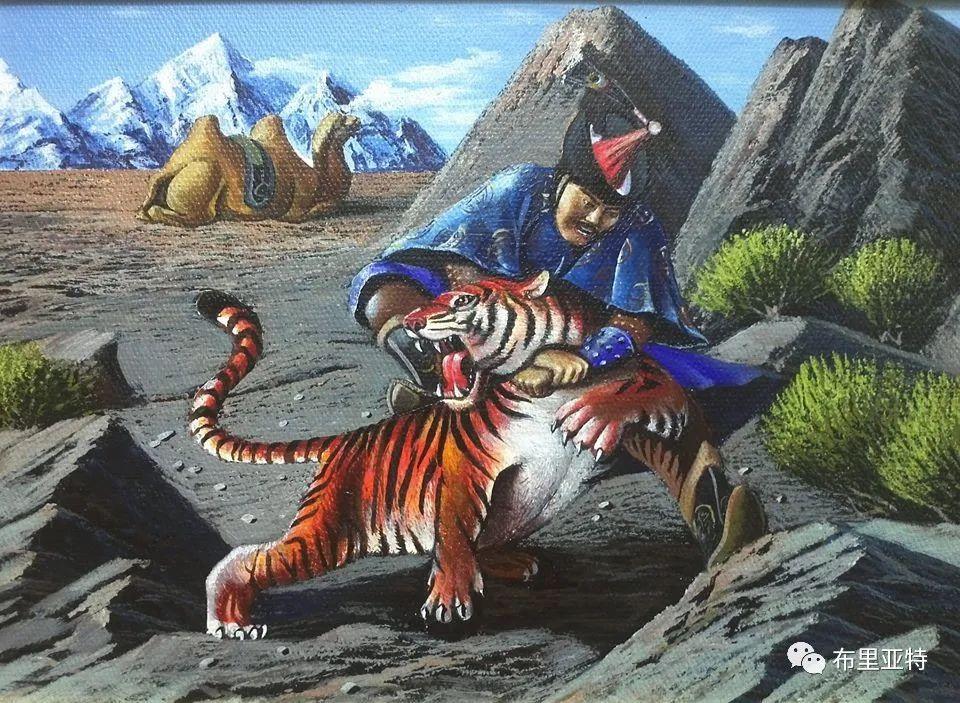 蒙古国油画,彩笔画大师巴雅尔作品欣赏 第25张