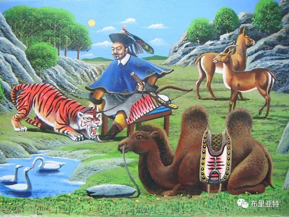 蒙古国油画,彩笔画大师巴雅尔作品欣赏 第24张