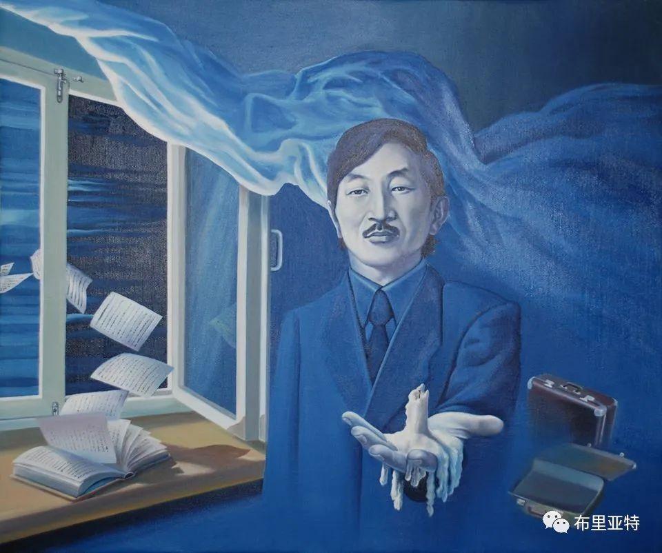蒙古国油画,彩笔画大师巴雅尔作品欣赏 第26张