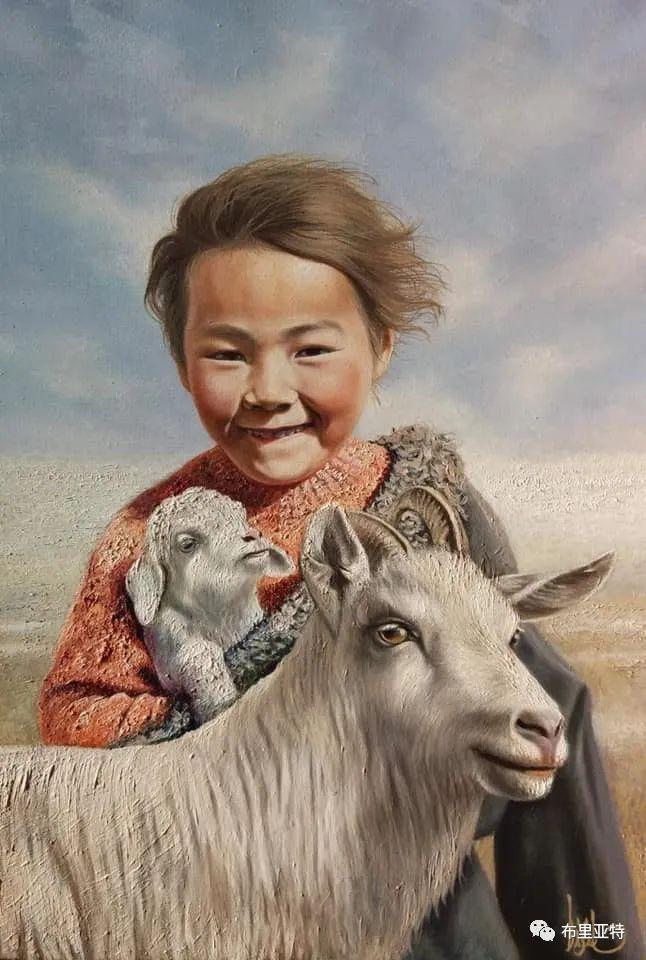 蒙古国油画,彩笔画大师巴雅尔作品欣赏 第39张