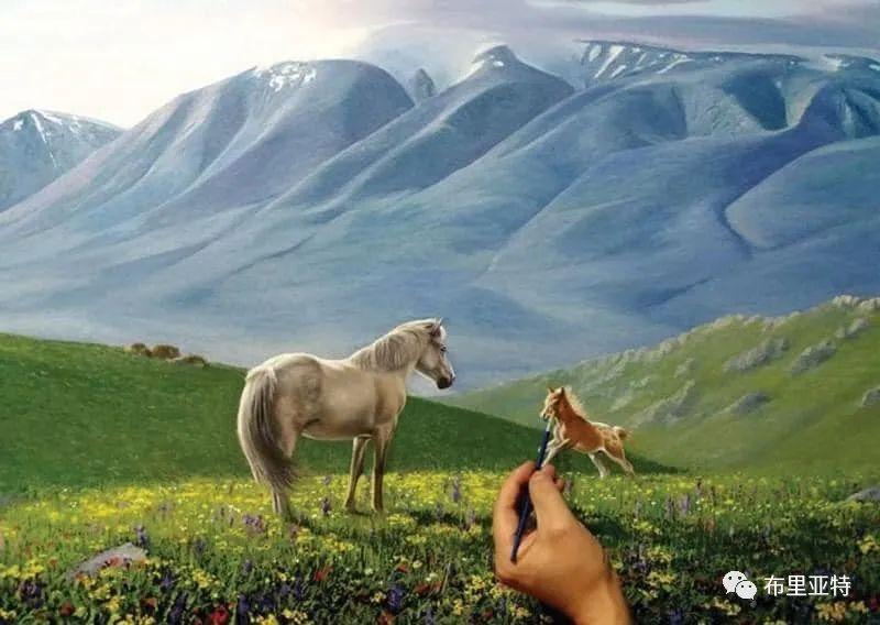 蒙古国油画,彩笔画大师巴雅尔作品欣赏 第45张