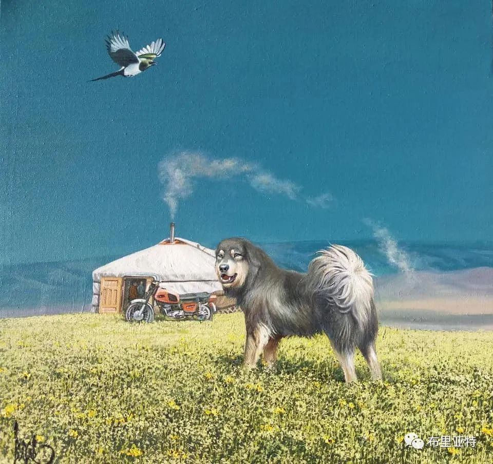蒙古国油画,彩笔画大师巴雅尔作品欣赏 第48张