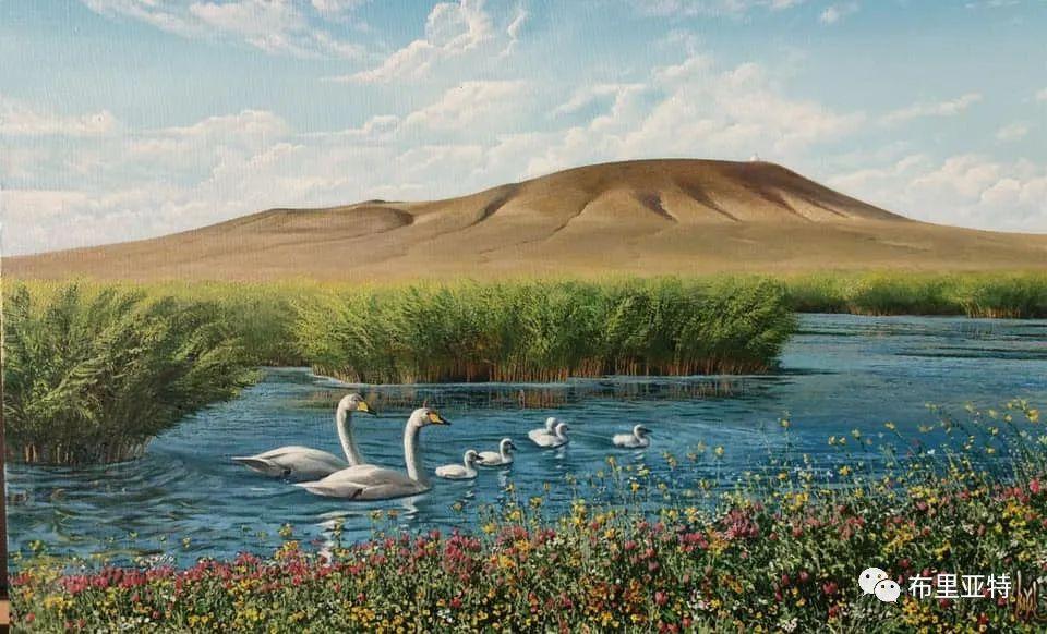 蒙古国油画,彩笔画大师巴雅尔作品欣赏 第55张