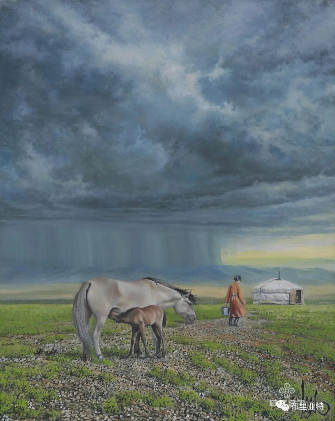 蒙古国油画,彩笔画大师巴雅尔作品欣赏 第54张