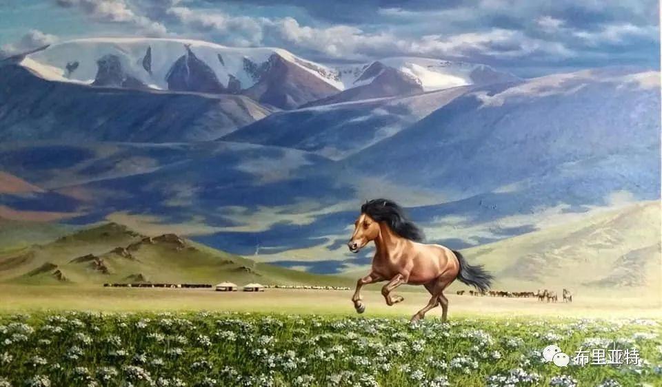 蒙古国油画,彩笔画大师巴雅尔作品欣赏 第58张