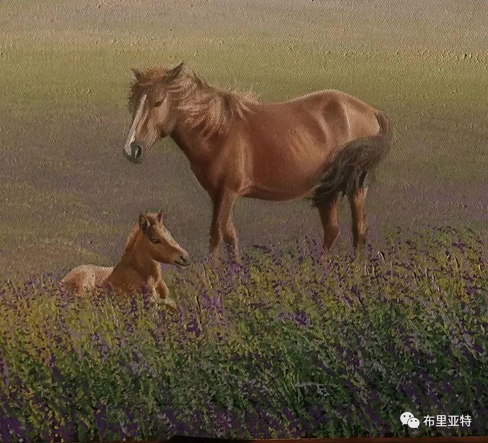 蒙古国油画,彩笔画大师巴雅尔作品欣赏 第60张
