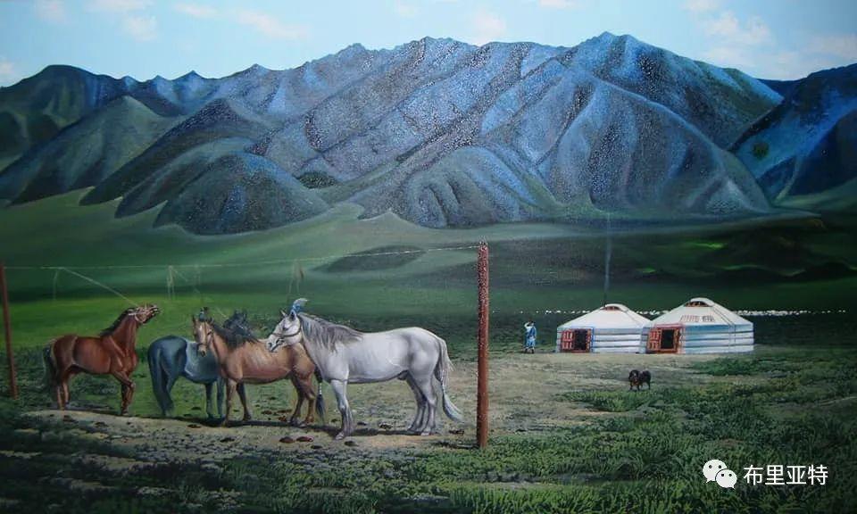 蒙古国油画,彩笔画大师巴雅尔作品欣赏 第63张