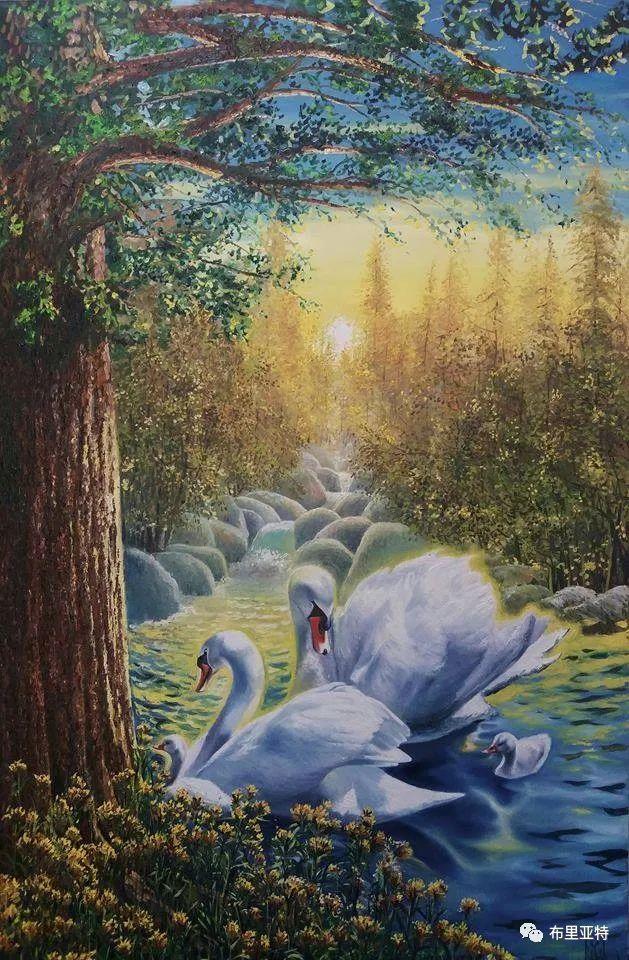 蒙古国油画,彩笔画大师巴雅尔作品欣赏 第61张