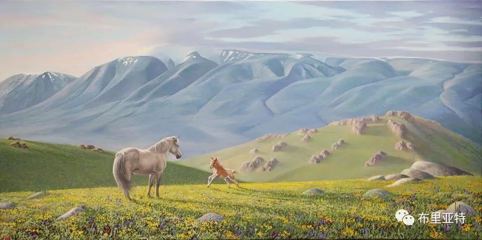 蒙古国油画,彩笔画大师巴雅尔作品欣赏 第64张