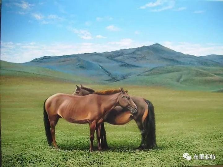 蒙古国油画,彩笔画大师巴雅尔作品欣赏 第62张
