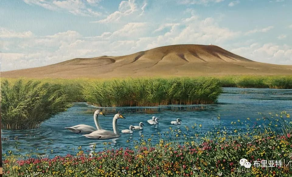 蒙古国油画,彩笔画大师巴雅尔作品欣赏 第67张
