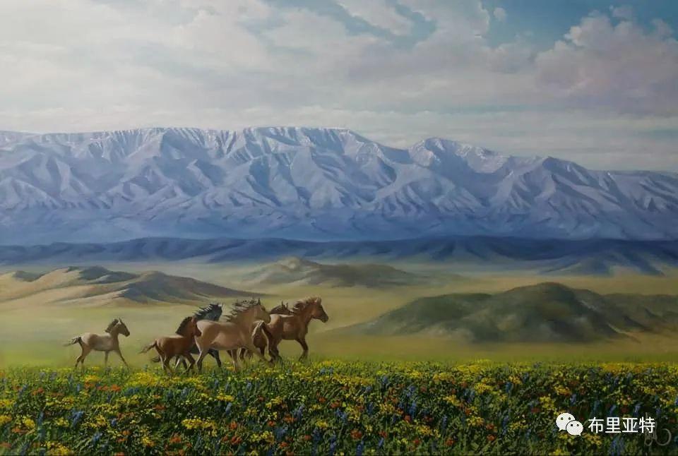 蒙古国油画,彩笔画大师巴雅尔作品欣赏 第66张
