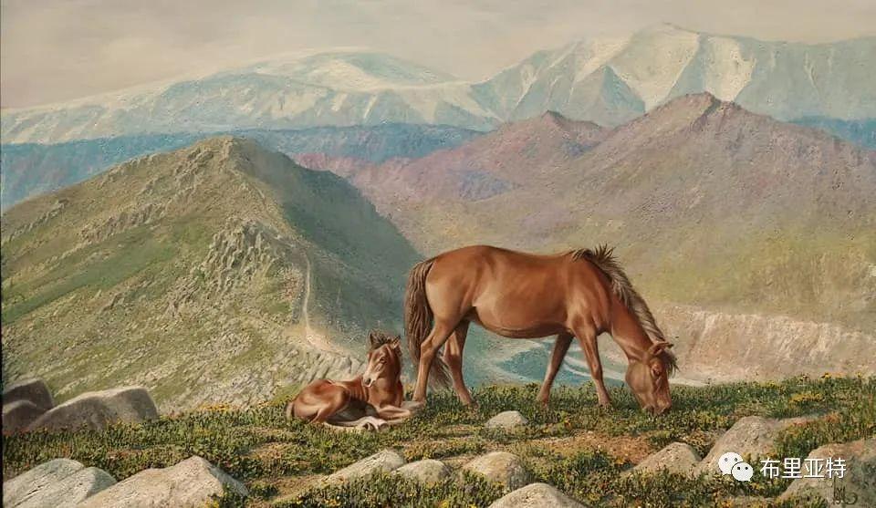 蒙古国油画,彩笔画大师巴雅尔作品欣赏 第69张