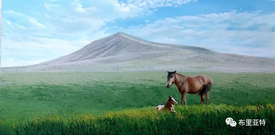 蒙古国油画,彩笔画大师巴雅尔作品欣赏 第80张