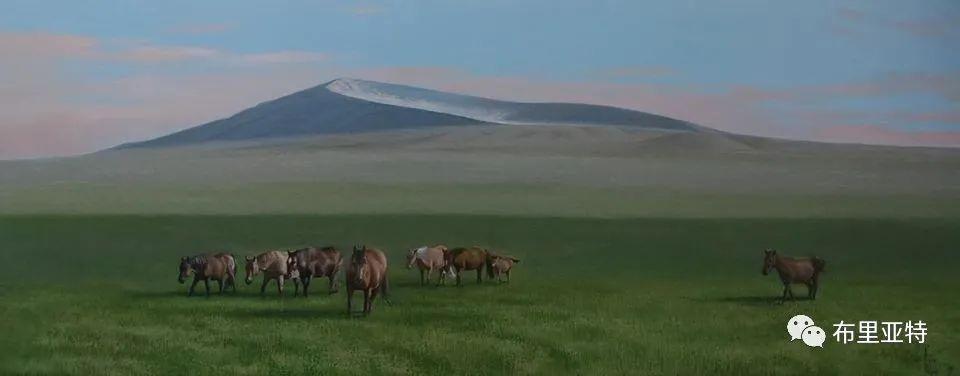 蒙古国油画,彩笔画大师巴雅尔作品欣赏 第77张