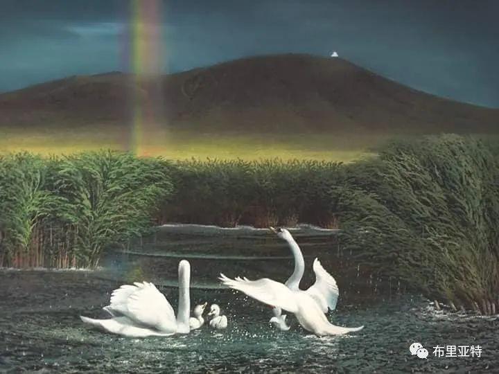 蒙古国油画,彩笔画大师巴雅尔作品欣赏 第78张