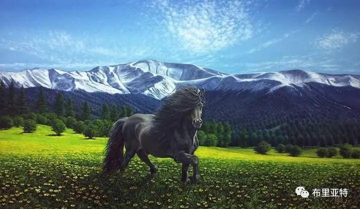 蒙古国油画,彩笔画大师巴雅尔作品欣赏 第79张