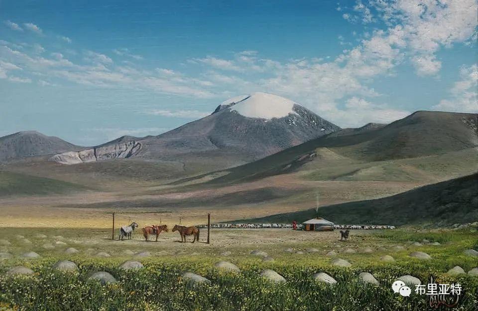 蒙古国油画,彩笔画大师巴雅尔作品欣赏 第81张