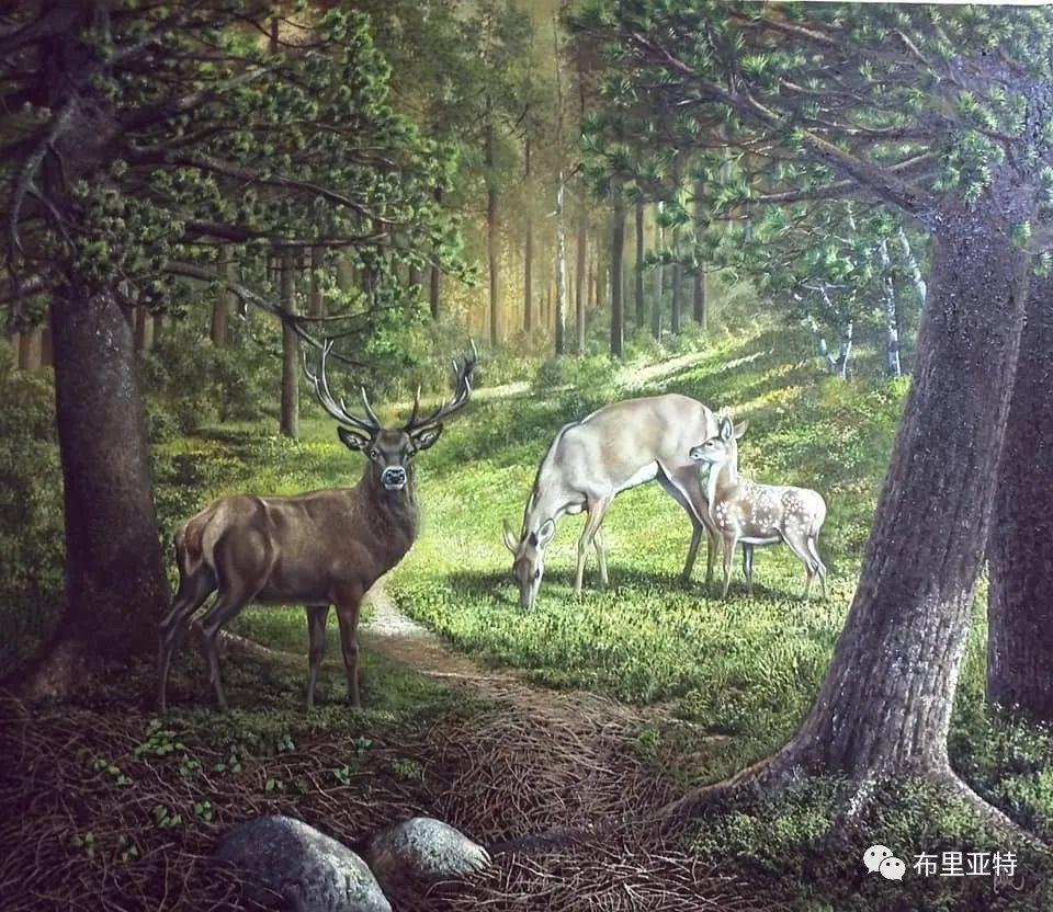 蒙古国油画,彩笔画大师巴雅尔作品欣赏 第82张