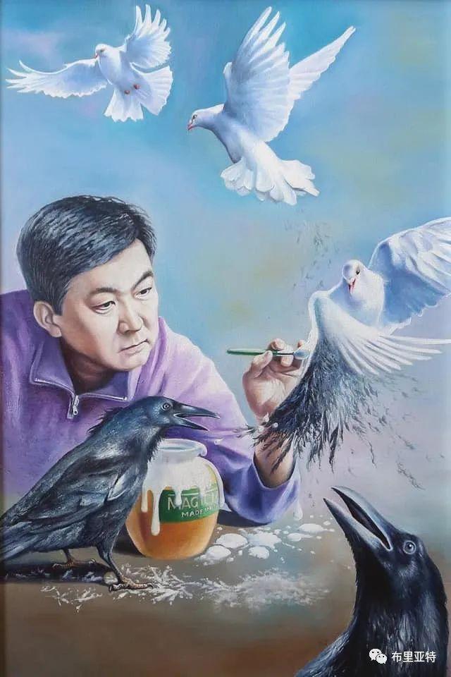 蒙古国油画,彩笔画大师巴雅尔作品欣赏 第86张