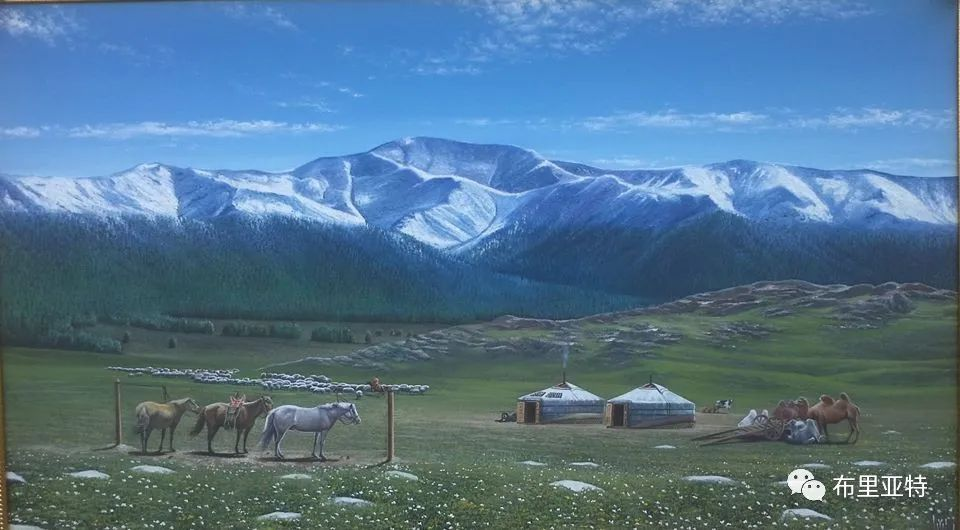 蒙古国油画,彩笔画大师巴雅尔作品欣赏 第85张