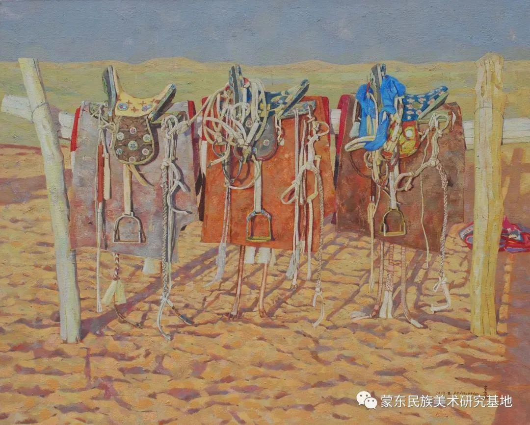 柯西格巴图油画作品——中国少数民族美术促进会,蒙东民族美术研究基地画家系列 第6张
