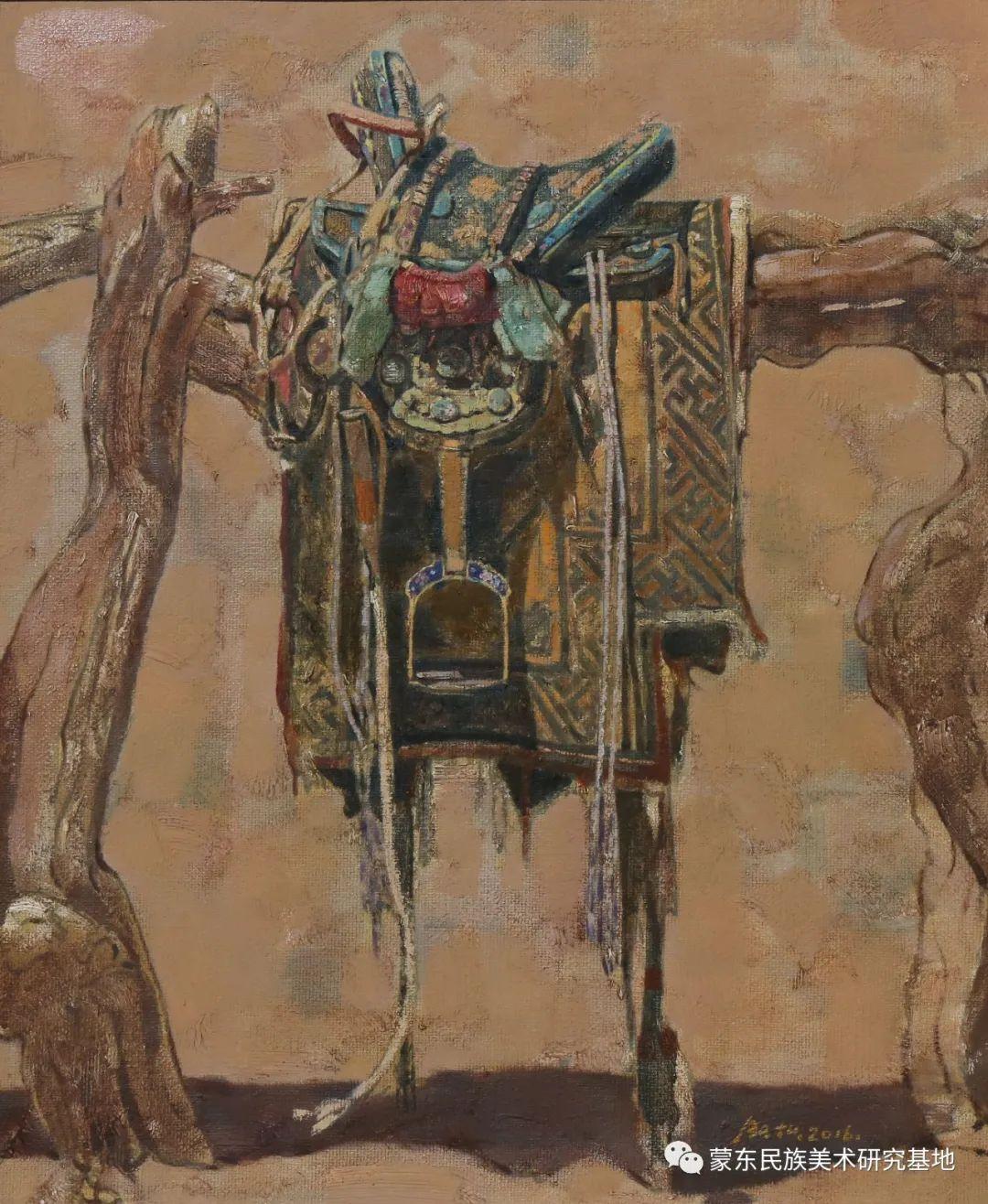 柯西格巴图油画作品——中国少数民族美术促进会,蒙东民族美术研究基地画家系列 第9张