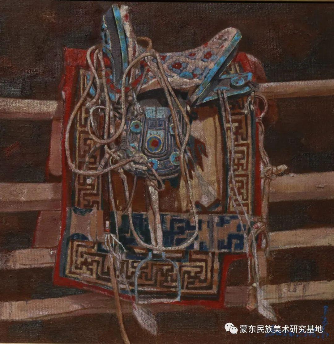 柯西格巴图油画作品——中国少数民族美术促进会,蒙东民族美术研究基地画家系列 第12张