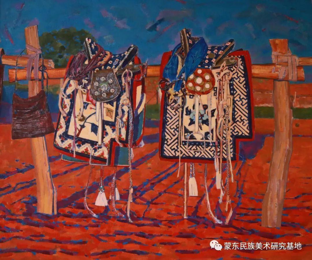柯西格巴图油画作品——中国少数民族美术促进会,蒙东民族美术研究基地画家系列 第14张