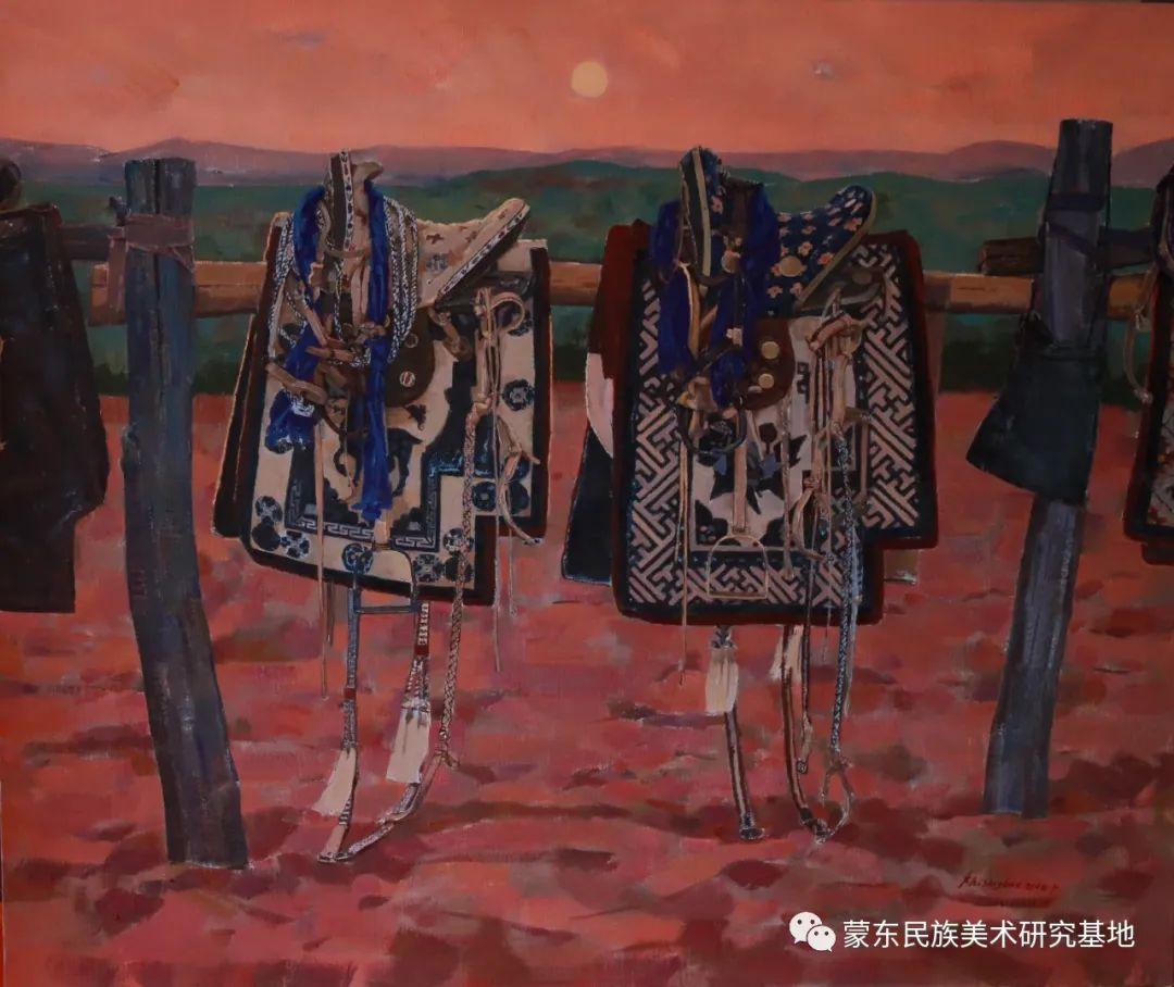 柯西格巴图油画作品——中国少数民族美术促进会,蒙东民族美术研究基地画家系列 第13张