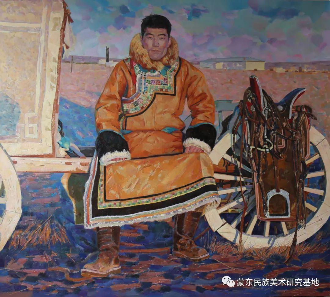 柯西格巴图油画作品——中国少数民族美术促进会,蒙东民族美术研究基地画家系列 第17张