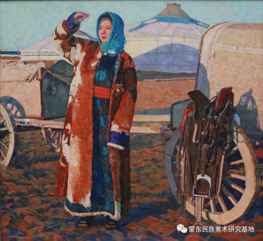 柯西格巴图油画作品——中国少数民族美术促进会,蒙东民族美术研究基地画家系列 第16张