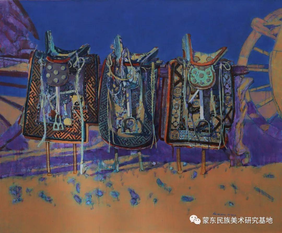 柯西格巴图油画作品——中国少数民族美术促进会,蒙东民族美术研究基地画家系列 第18张