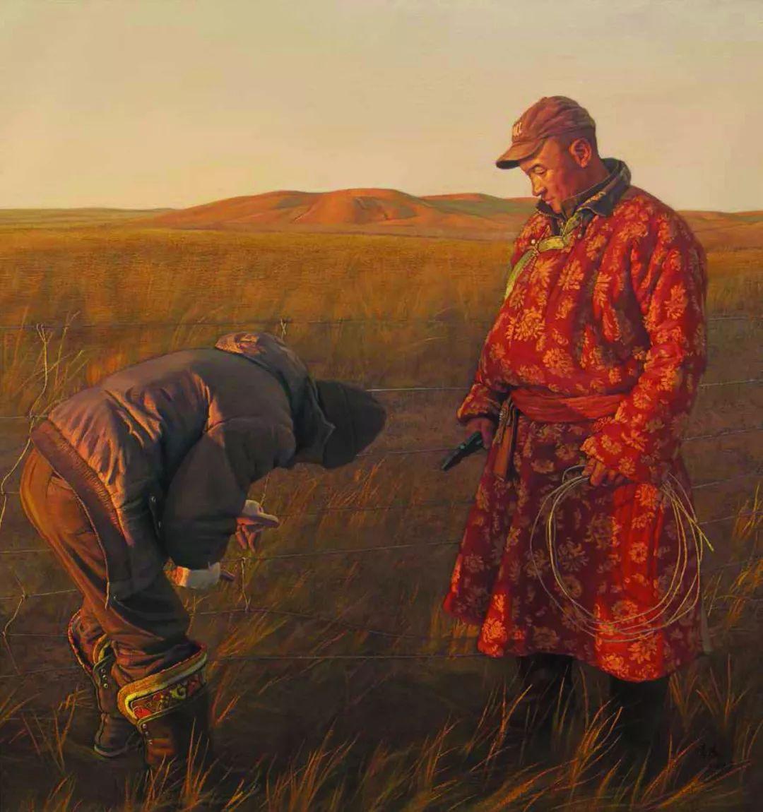 【草原四季  亮丽北疆】全国美术作品展——内蒙古美术家入展作品 第24张