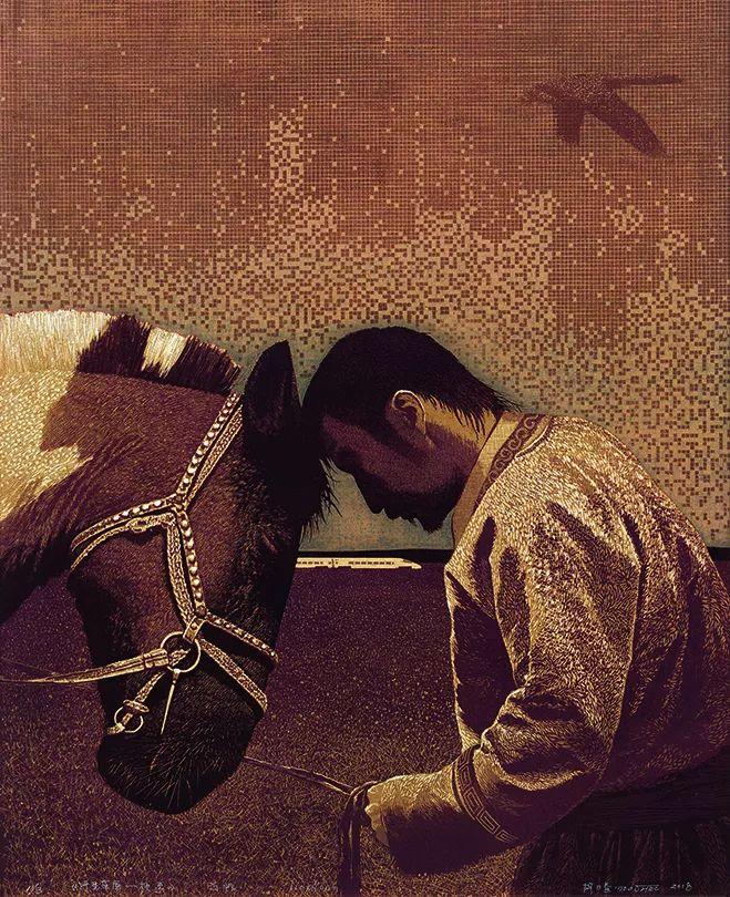 【草原四季  亮丽北疆】全国美术作品展——内蒙古美术家入展作品 第44张