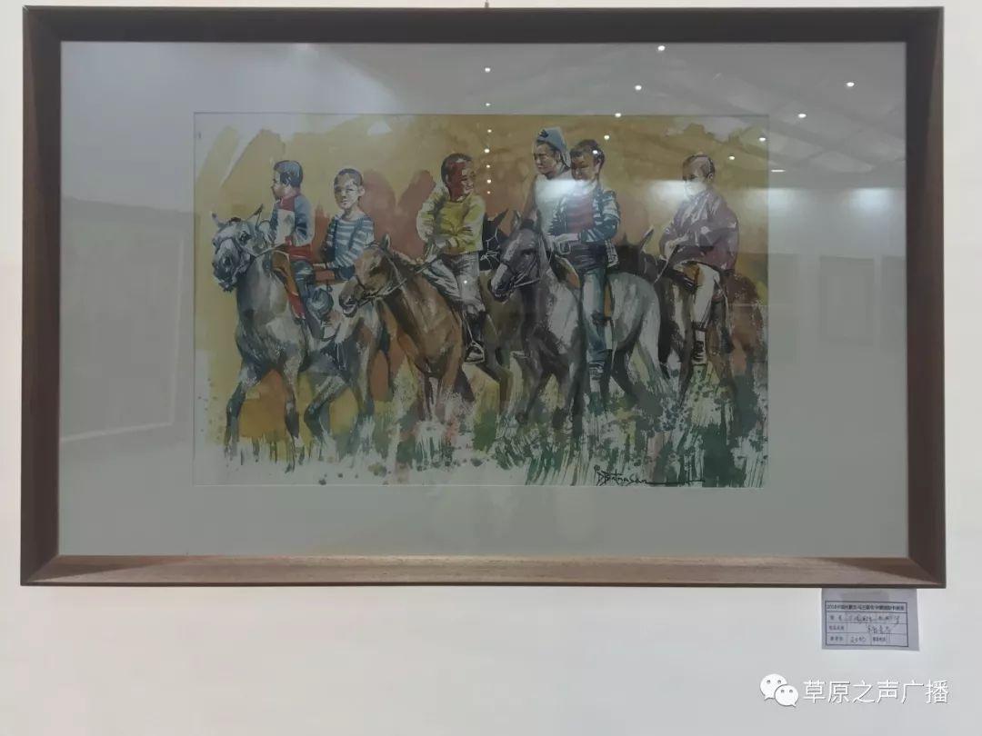 蒙古国书画展在乌兰察布举办 第9张