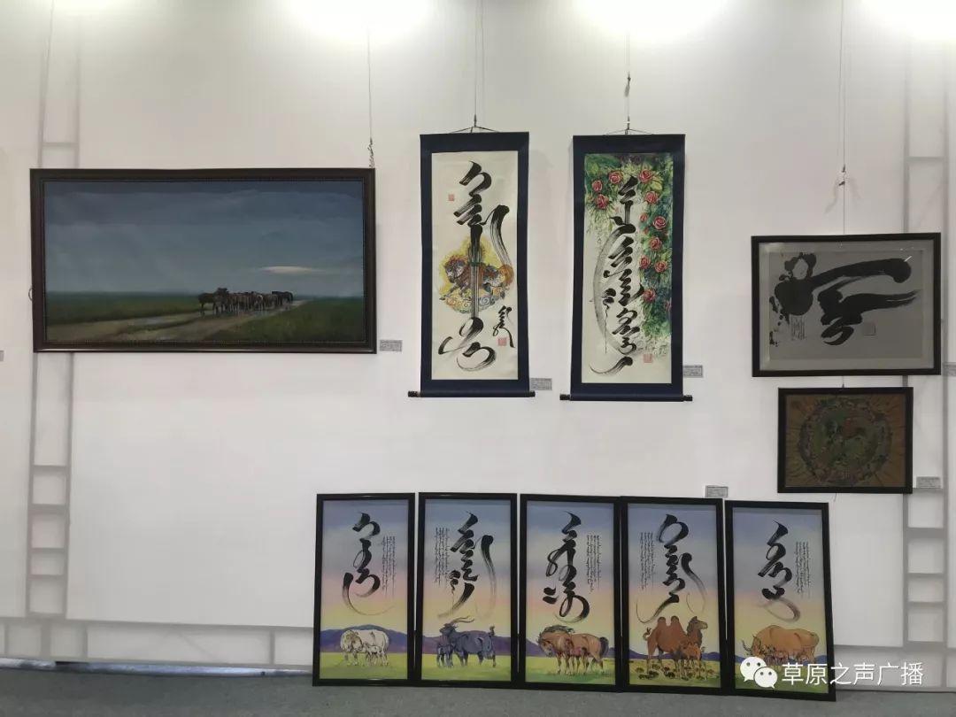 蒙古国书画展在乌兰察布举办 第10张