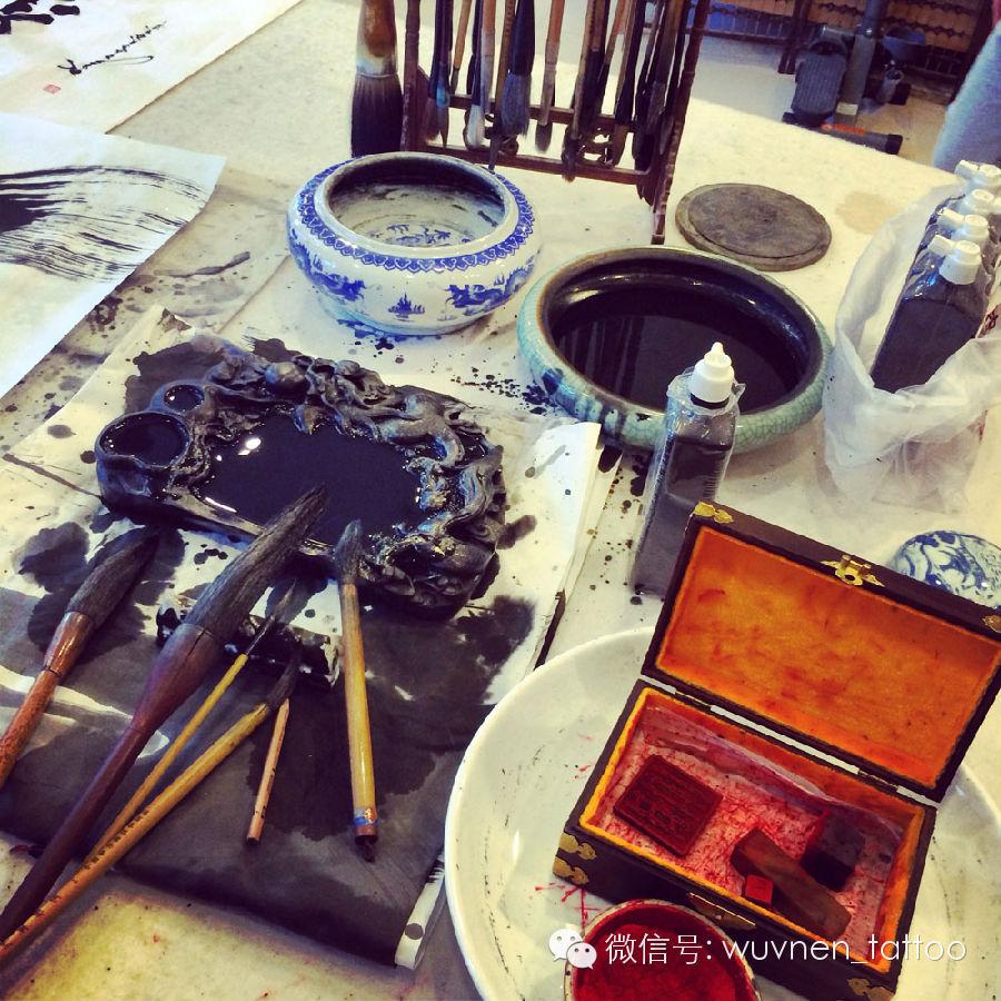 著名蒙古国书法家&画家Sukhbaatar为無南刺青创作并赠送珍贵书画作品 第4张